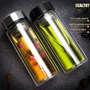 320ML Glass Water Bottle Business Men Of