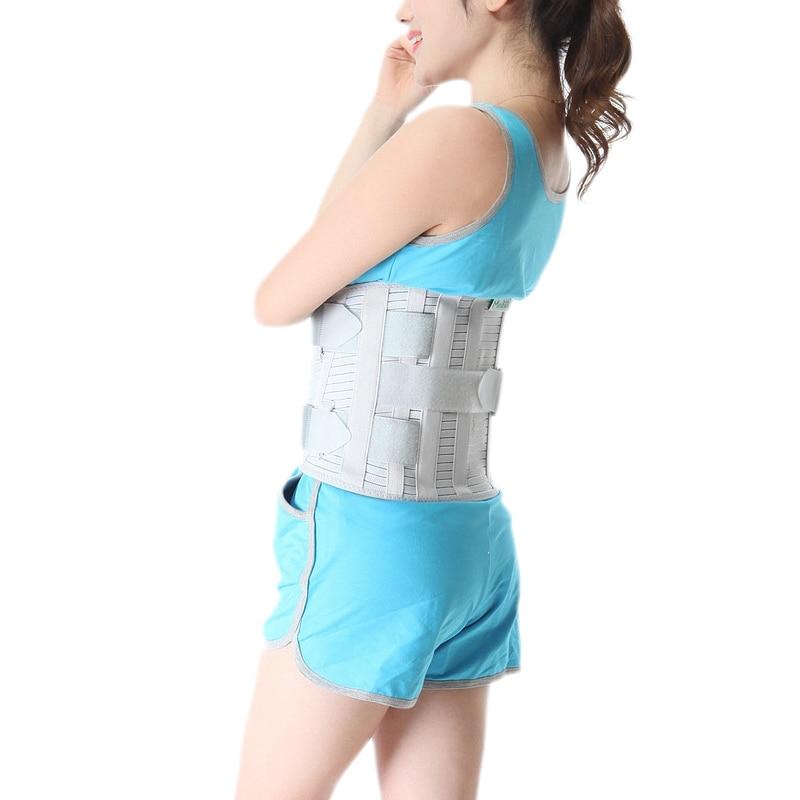 Cinturón de protección de hernia de disco Lumbar con cinturón deportivo de cintura ajustable de acero S/M/L/XL /XXL-in Abrazaderas y soportes from Belleza y salud    3
