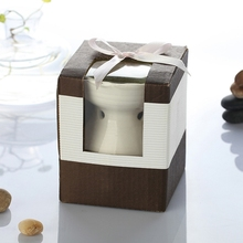 Dia 8.5 * Height 11cm Color Ceramic Fragrance Oil Burner Essential Oil Furnace Air Freshener Containers DC813
