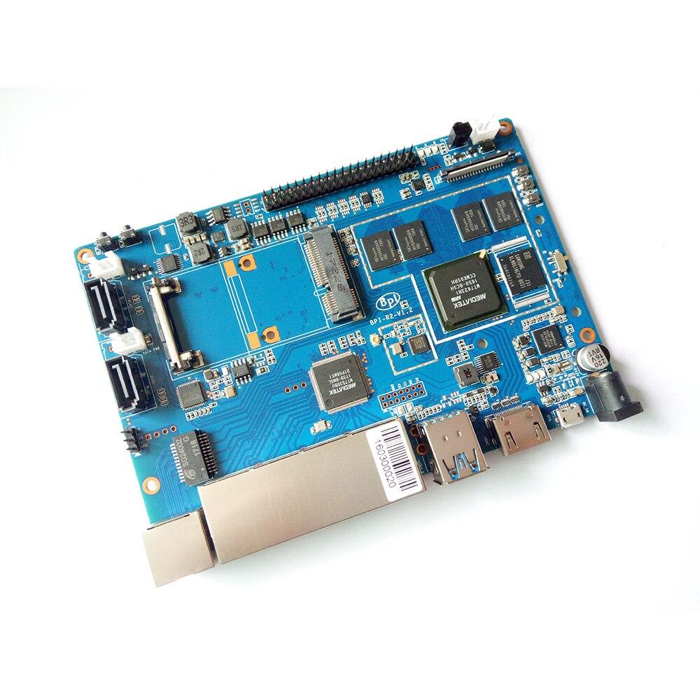 Banana PI BPI R2 Smart Home Wire 2G LPDDR3+8GBEMMC Open-source Development Board Single Board raspberry pi compatible banana pi bpi uno32 board