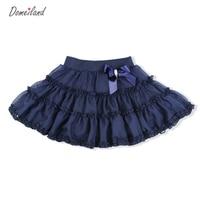 2016 Fashion Summer Brand Clothing Cute Baby Kids Princess Korean Tutu Cotton Chiffon Bow Skirts Party
