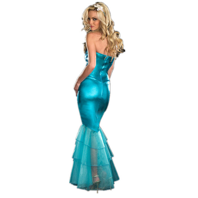 Sexy Sequin Mermaid Dress Halloween Adult Ariel princess Cosplay Costume  Marine theme party Dress Carnival Masquerade clothing 4 1 2 ... d9e1031c066c