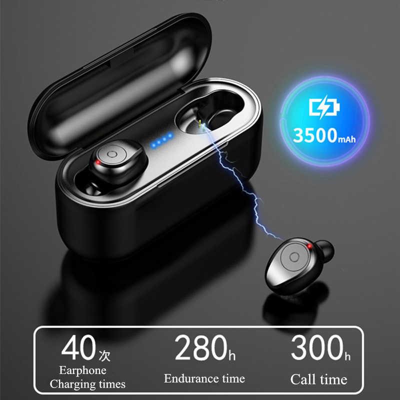 57f611c3f1b ... AMTERBEST F9 Mini 5D Stereo Sound Wireless Bluetooth Earphone IPX7  Waterproof Sport Earbuds with 3500mA Power ...