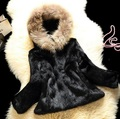 Free Shipping Genuine Rabbit Fur Coat women full pelt rabbit fur with hat fur jacket free customized plus size any color J811