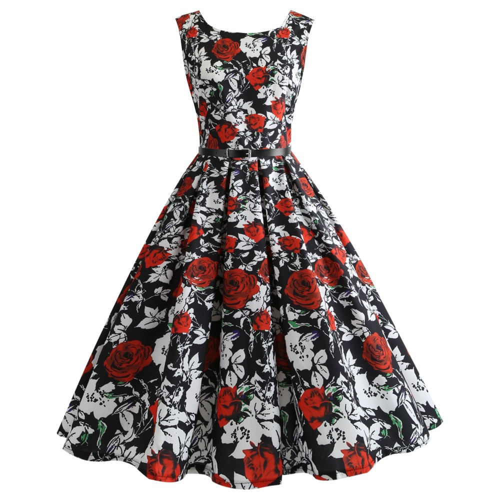 ed05cda5d2 US $9.68 21% OFF|Teens Girls Dress 2019 Dresses Summer Girls Dresses Floral  Print Teenager Party Dress For age 10 20 year girls clothing-in Dresses ...