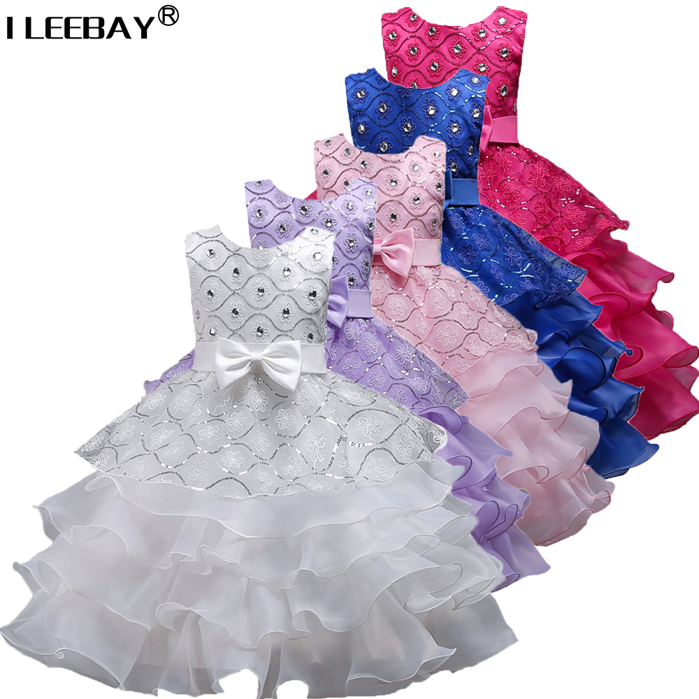 New Elegent Weeding Party Princess Dress for Girls Children Ball Gown with Diamonds Kids Baby Dress Girl Pageant Wear Robe Fille 4pcs new for ball uff bes m18mg noc80b s04g