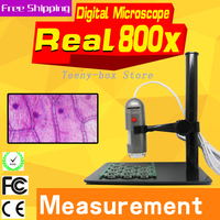 8LED 800X USB Digital Microscope Endoscope Magnifier Video Camera with Lift and Portable Stand Pocket microscope