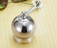 Size s British exports 304 stainless steel salt and pepper grinder mill manual hand pepper mills