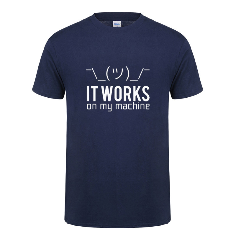 Funny birthday gifts for huaband boyfriend men it works on my machine short sleeve cotton computer programmer   t     shirt     t  -  shirt