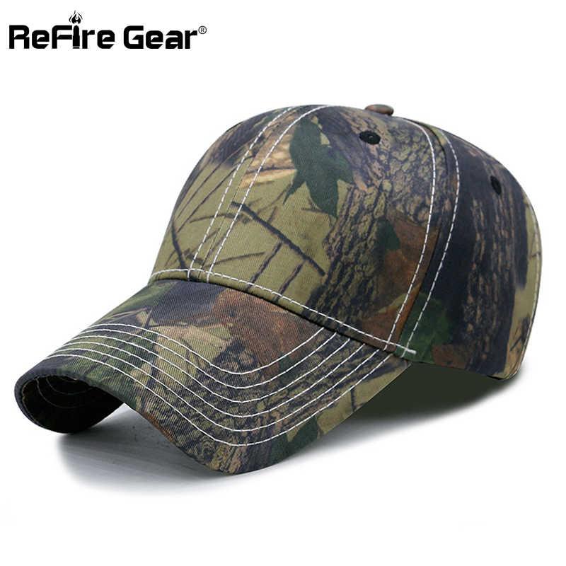 ReFire Gear táctico camuflaje gorra de béisbol de los hombres ocultar ejército hombre de la gorra es Outfitter sombrero Airsoft Paintball deja Camo gorras