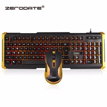 Wired Gaming Keyboard Mouse Set with LED Backlight Keyboards for pc Computer Gaming Gamer Waterproof цена и фото