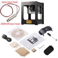 38*38mm 1000mW 405nm 2*USB+Spare 1000mW Laser Head CE CNC Laser Engraving Machine+Goggles for Diy Image engraving machine machine machine for engravingmachine for -