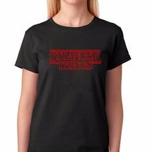 Stranger Things T shirts Top Men Women Unisex Letter Print T-shirt Tee Black Cotton Tshirt Short Sleeve Clothing Tees & Tops цена и фото