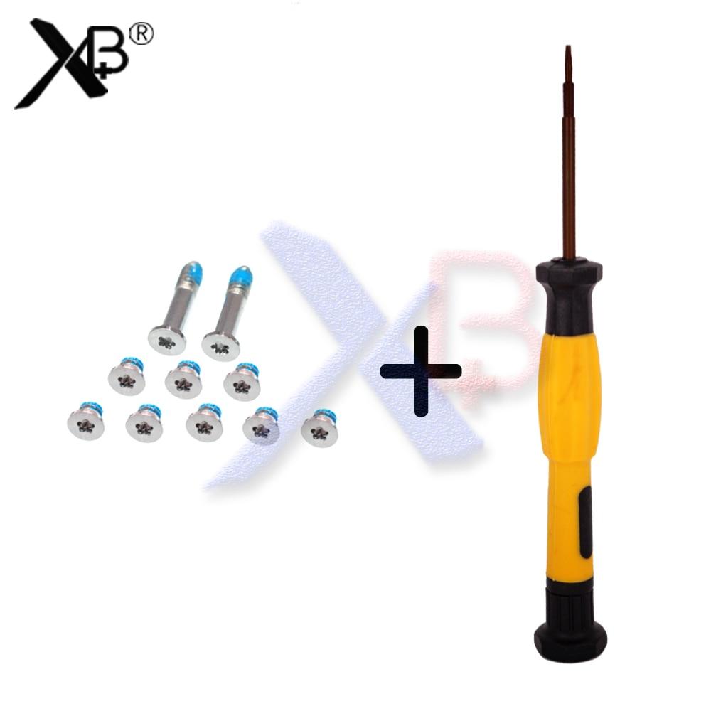 Brand New Bottom Case Screws Screw 10pcs/set And Screwsdriver For Macbook Air A1369 A1466