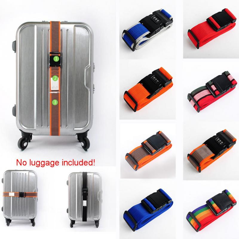 Adjustable PP Luggage Straps Travel Luggage Travel Luggage Suitcase Straps Baggage Backpack Safe Belt With Secure Coded Lock#15