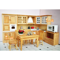 Miniature Dollhouse kitchen sets 1/12 Furniture toy for dolls simulation cabinet cooking stove role play toys kids girls gift