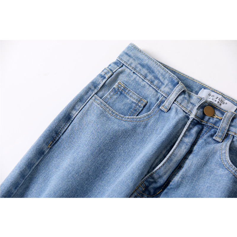 Free Shipping 2019 New Slim Pencil Pants Vintage High Waist Jeans New Womens Pants Full Length Pants Loose Cowboy Pants C1332 #4