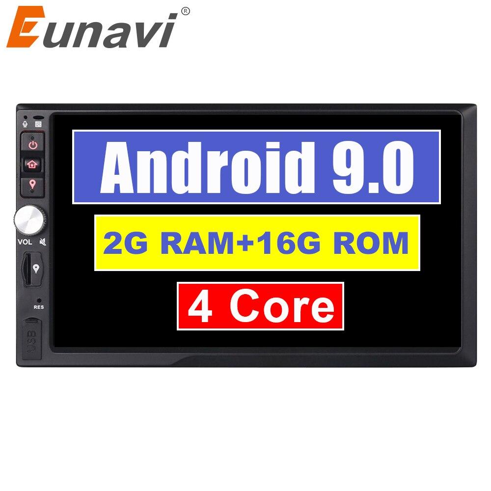 Eunavi 2 Din 7 inch Quad core Android 9 0 2G RAM font b Car b