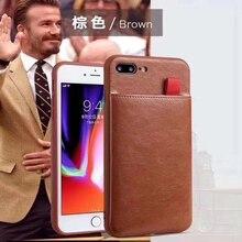 Роскошный модный кожаный чехол с карманом для карт, мягкий чехол для Apple iphone 6 7 8 9 Plus X XR XS Max, чехлы для 6 plus 7 plus 8 plus XsMax