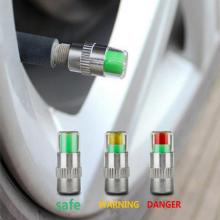 Adeeing 4 шт. 2,4 Бар автомобильный контроль давления в шинах клапан колпачок Датчик Индикатор 3 цвета глазное оповещение Мониторинг давления в шинах r20