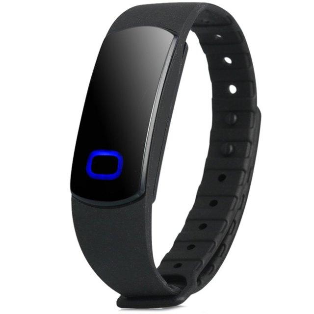 SH08 Pulseira mesa Unisex Relógio Inteligente Pulseira Bluetooth com LED Azul IP67 Inteligente Pulseira