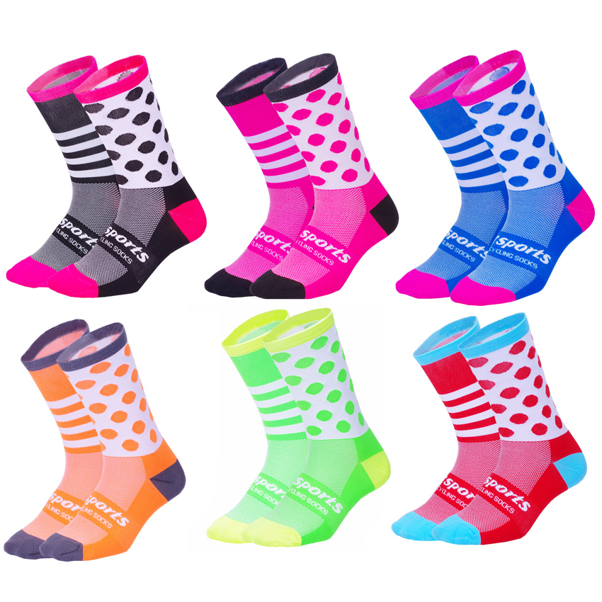 DH SPORTS New Professional Cycling Socks Men Women Protect Feet Breathable Sock Kids Outdoor Road Bike Socks Bicycle Accessories