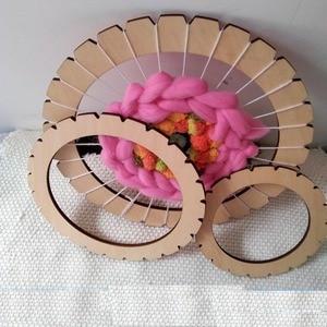 Image 3 - עגול אריגת נול כלי קרפט חינוכי עץ לארוג מכונה מסורתית עץ ילדים למבוגרים צעצוע מסגרת פיקסל סריגה צעצועים