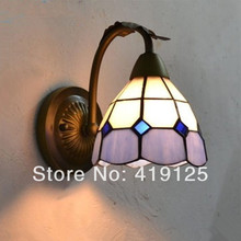 Refreshing Red Cherry Pattern Green Gl Shades Wrought Iron Bathroom Lighting