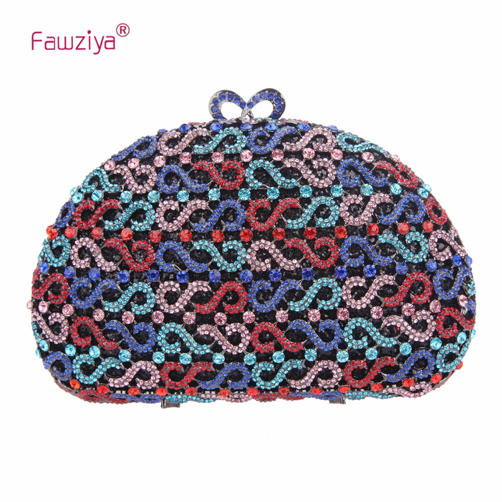 Fawziya Rhinestone Clutch Purses for Women Evening Clutches for Wedding and Party fawziya apple clutch purses for women rhinestone clutch evening bag