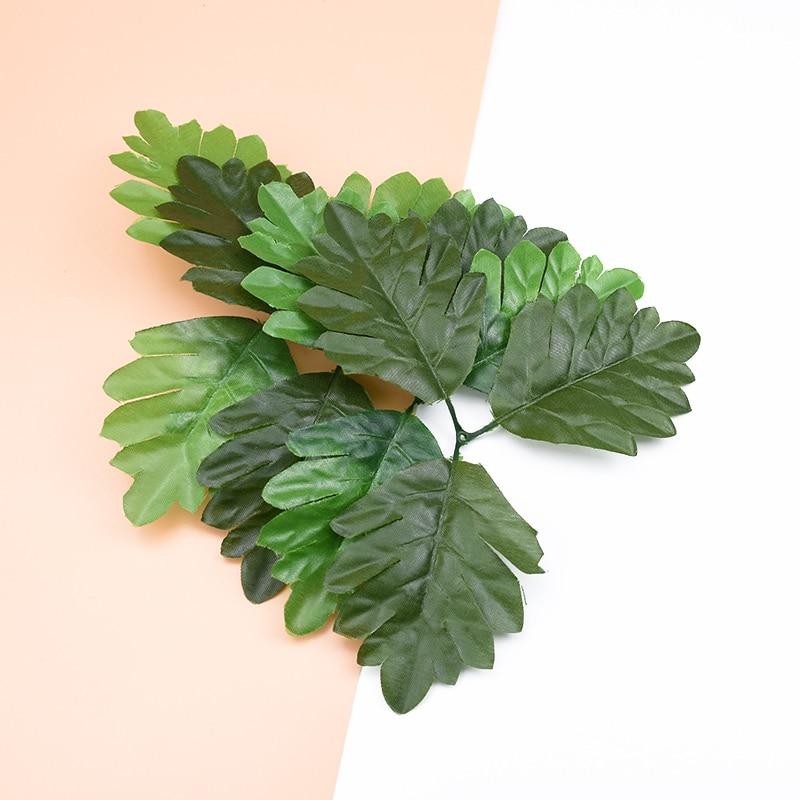 10pcs BIG Silk Maple Leaf Decorative Flowers Wreaths Christmas Home Decor Diy Scrapbook Gifts Box Fake Leaves Artificial Plants
