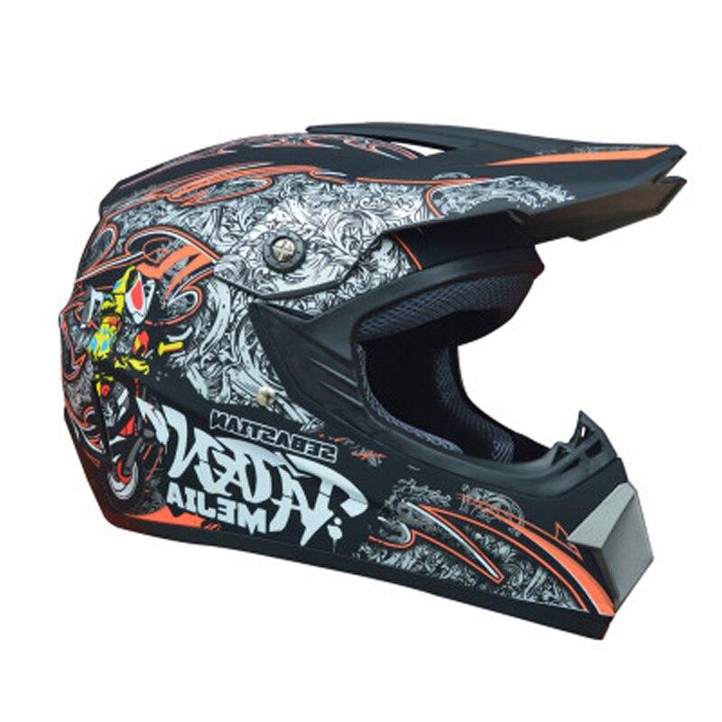 Criança adulto fora da estrada capacete da motocicleta atv bicicleta sujeira downhill mtb dh capacete de corrida motocross dos homens