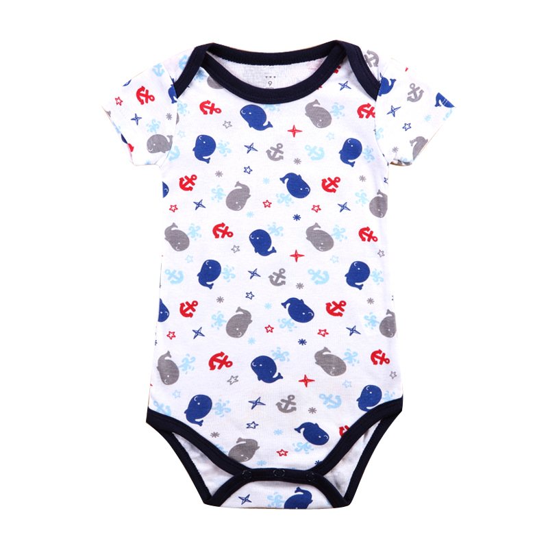 2017 Hot Sale New Baby Boy Rompers Clothing Set Summer Cotton Short Sleeve Car Printed Jumpsuit Newborn Cloth