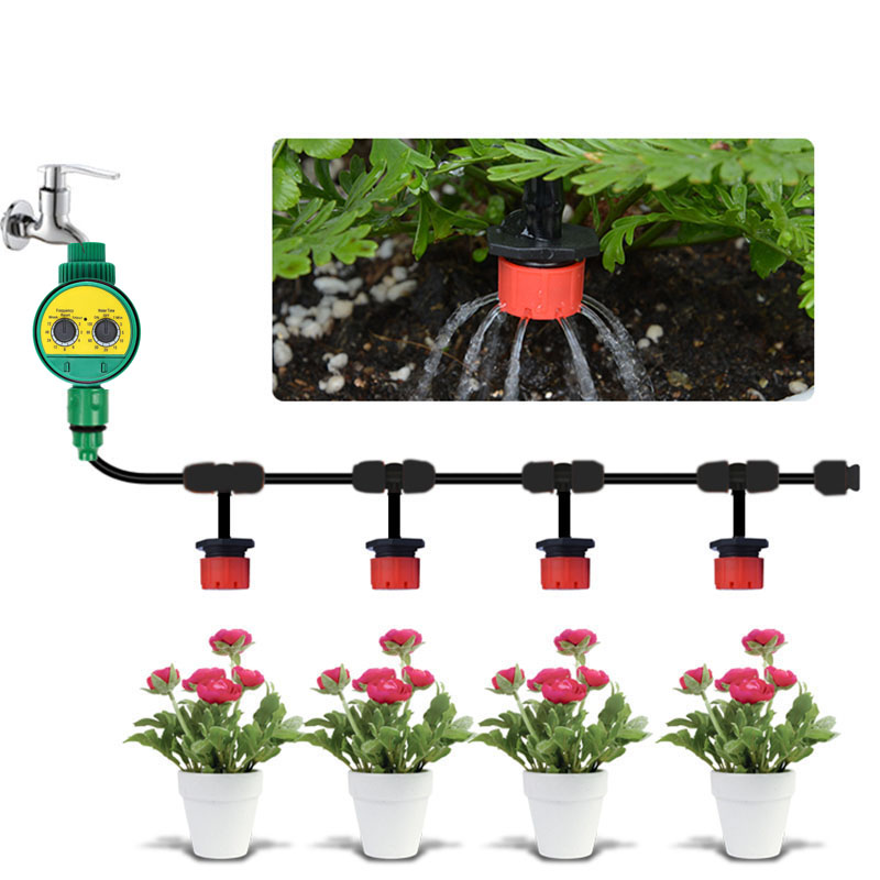 30m Diy Micro Drip Irrigation System Plant Self Automatic Watering