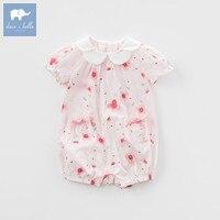 DBM7508 Dave Bella/летние для маленьких девочек новорожденных хлопковый комбинезон Одежда для младенцев милые дети ползунки для малышей 1 шт.