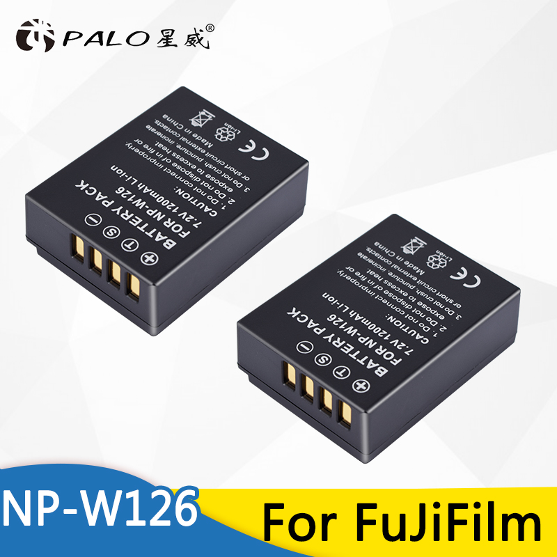 2 pz NP W126 NP-W126 NPW126 Sostituzione Della Batteria 1200 mah per Fujifilm FinePix HS30EXR HS33EXR HS50EXR X-A1 X-E1 X-E2 X-M1 x-Pro1