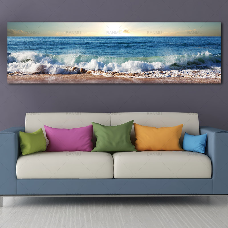 Wall Art Painting  Art  Home Decor Landcape Canvas Painting Picture Sea Wave Wall Picture Art Print Canvas And Posters Picture