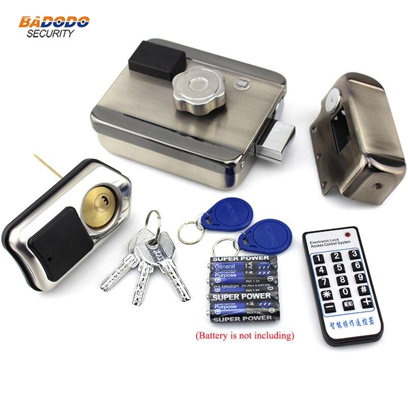 ワイヤレス電動ロックロッカーのドアロックサポート 13.56 mhz IC カードアクセス制御ゲートドアオープンホームセキュリティ  グループ上の セキュリティ & プロテクション からの アクセスコントロール キット の中 1