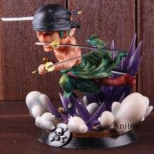 Figura anime uma peça roronoa zoro gk estátua uma peça zoro pvc figura de ação estátua collectible modelo brinquedo