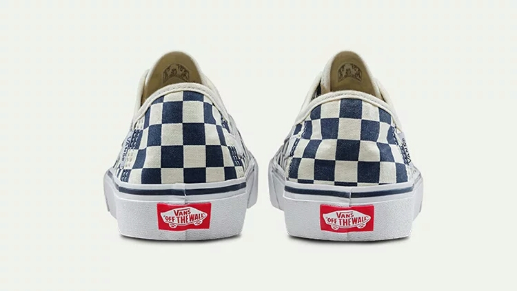 Original VANS Blue and white checkerboard coup Men and Womens Sneakers  canvas shoes 94af28867349