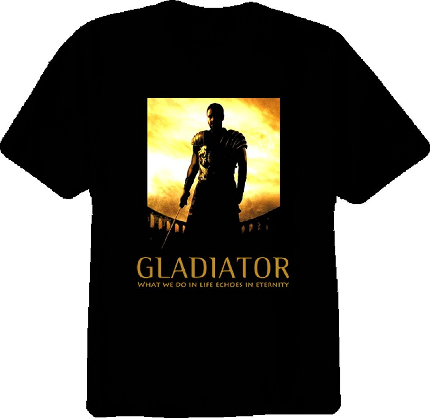 2017 Arrival Crew Neck Short-Sleeve Tall Gladiator Movie Popular Cool Russell Crowe T Shirt Men image