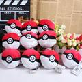 Anime Pikachu Go Monster Ball Plush Toy Doll with Ring Cartoon Soft Stuffed Doll 10pcs/lot Free Shipping