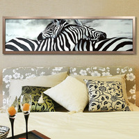160cm X 48cm Love Zebra Animals DIY 5D Rubik S Cube Round Diamond Painting Cross Stitch