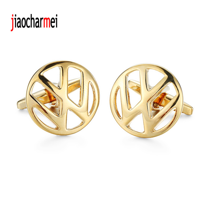 High quality Volkswagen Cufflinks Mens Suit personalized design new golden car logo style cufflinks, French shirt accessories