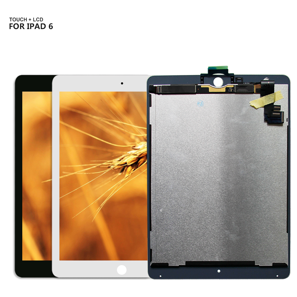 For iPad Air 2 iPad 6 ipad6 Air2 A1567 A1566 lcd display Touch Screen Digitizer Glass Assembly+Tools for ipad air 2 ipad6 a1567 a1566 lcd display touch screen digitizer assembly for ipad 6