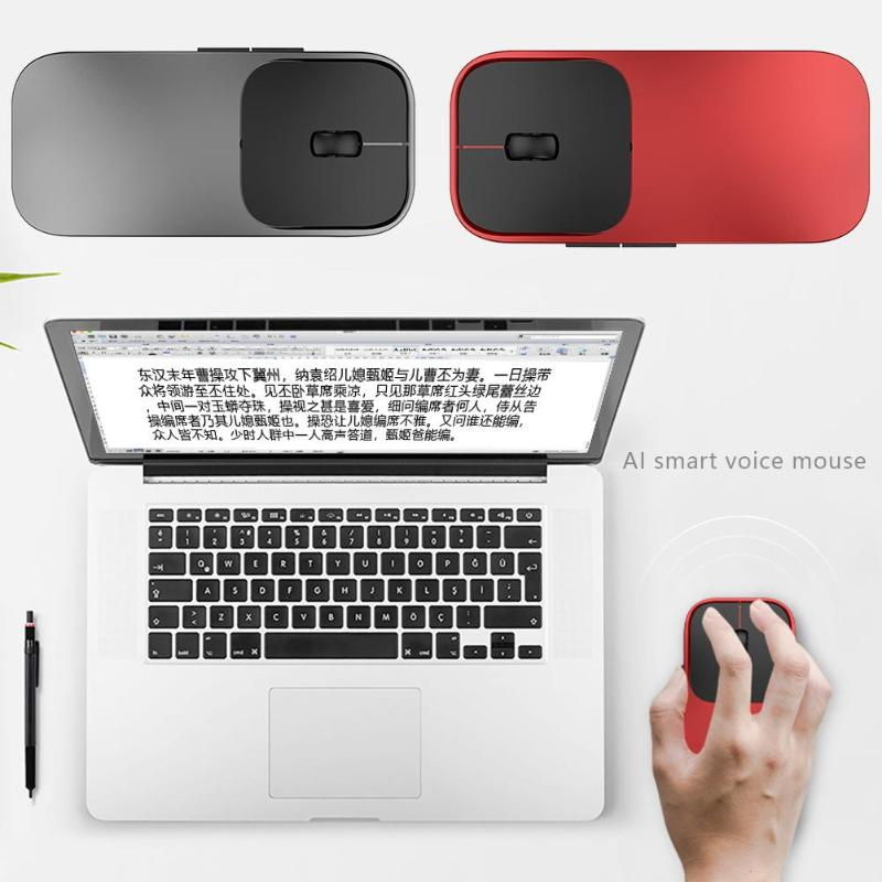 AI Artificial 2.4G Intelligence Voice Translation Wireless Mouse 28 Languages Dual Engine Search For Windows And Mic image