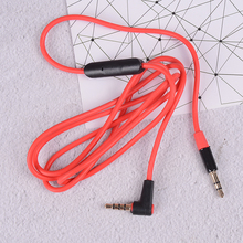 Replacement 3.5mm Audio Cable Inline Remote Mic Microphone Headset For QC3 Headphones For Aux/cord Beats Solo/studio/earphones