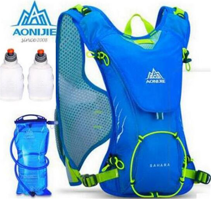 AONIJIE Men Women Outdoor Sports Lightweight Running 8L Backpack Marathon Cycling Hiking Bag With+ 1.5L Hydration Water Bag стоимость