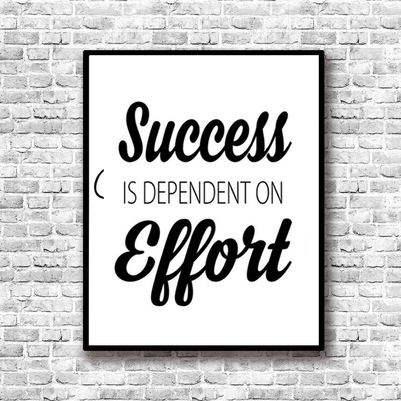 Lzn success inspiring quotes painting nordic canvas art posters and prints paintings for living room bedroom home decor in painting calligraphy from home