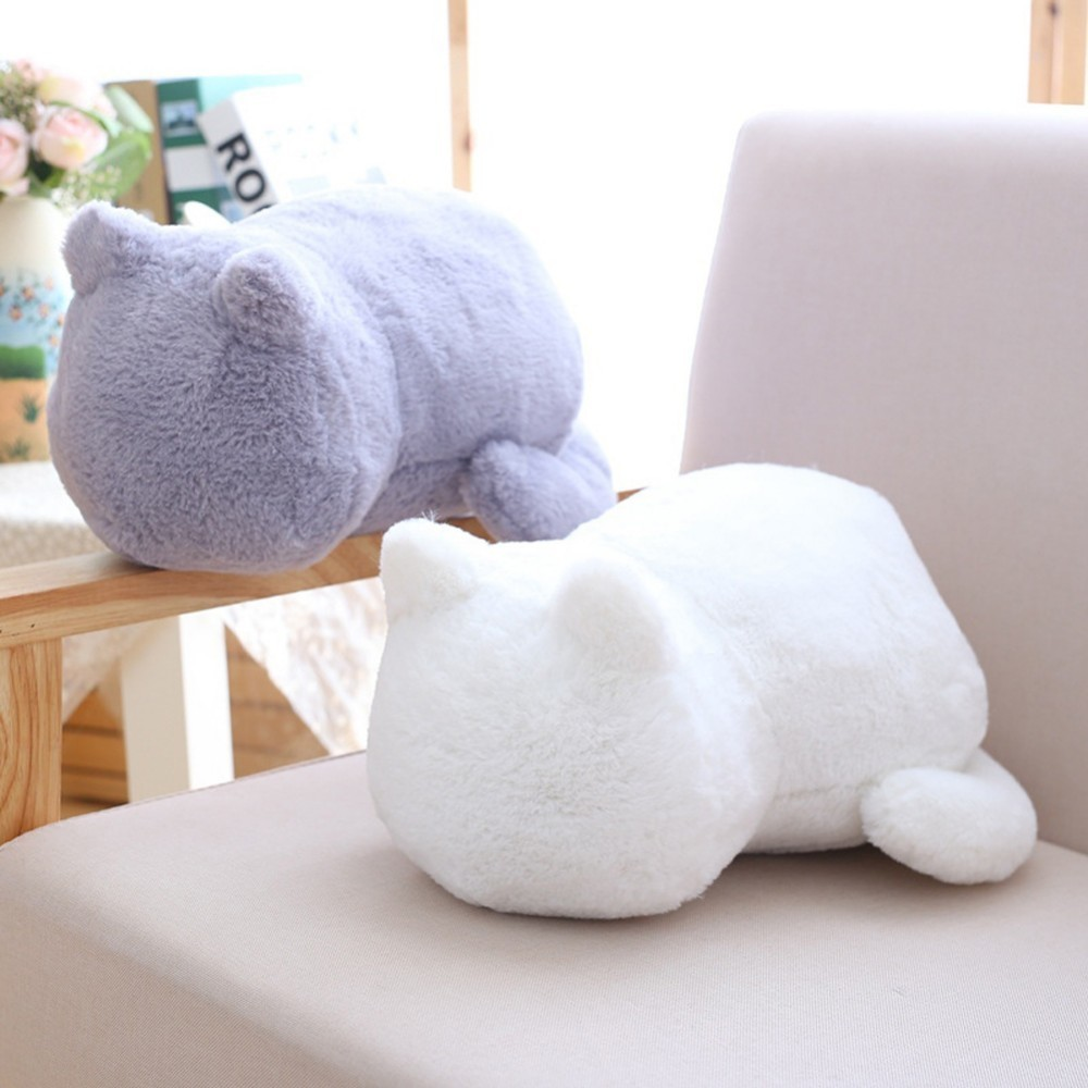 Cute Fat Back Cat Plush Doll Pillow Back Shadow Cat Filled Animal Pillow Toys  Home Decor Kids Lover Birthday  Gift
