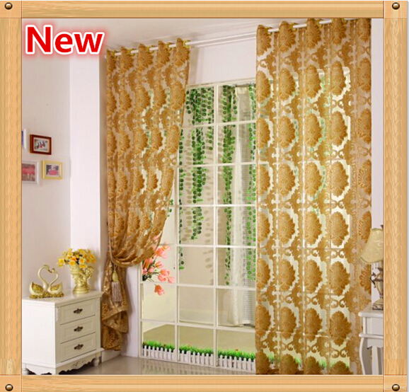 26cec42432739c 2015 jacquard curtain sheer tulle panel curtains luxury gold window  screening curtain for living room